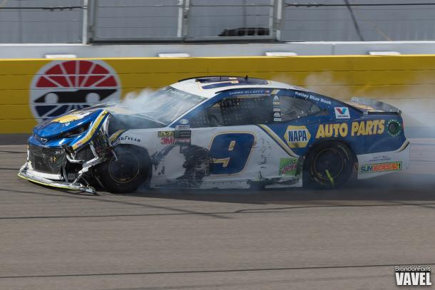 Chase Elliott had no luck in Vegas unfortunately.