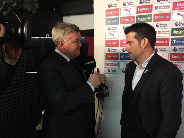 Marco Silva habla con la prensa previo al partido. Foto: Hull City.