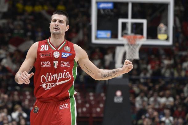 Andrea Cinciarini, capitano dell'Olimpia