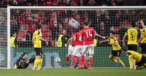 Il gol di Mitroglou. Foto:Twitter