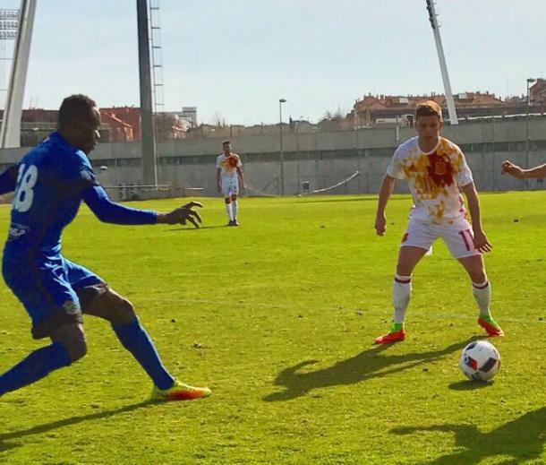 Dani Sandoval, en el encuentro disputado ayer | Foto: CF Fuenlabrada