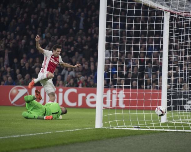 Il gol di Viergever che ha deciso la partita   Twitter @AFCAjax