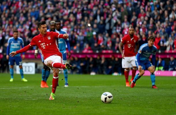 Il rigore perfetto di Lewandowski | Foto: @FCBayern
