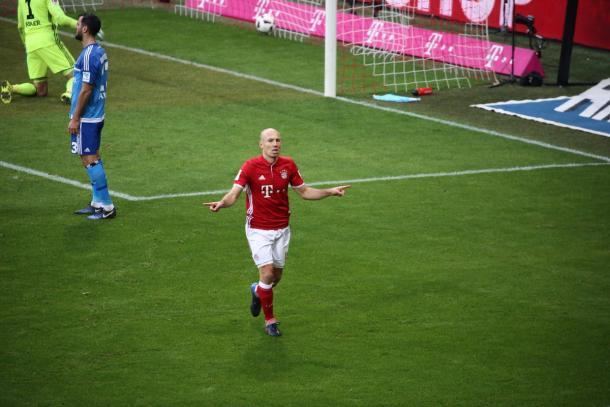 Robben chiude il match sull'8-0 | Foto: @FCBayern