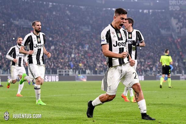 Dybala celebrando su gol | Foto: Juventus