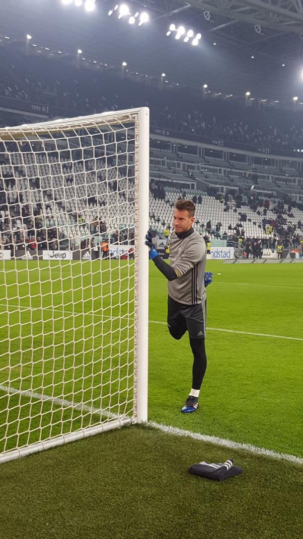 Neto calentando antes del encuentro | Foto: Juventus