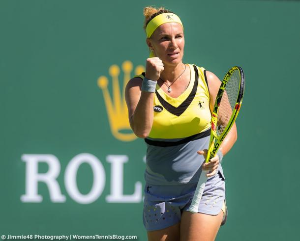 Svetlana Kuznetsova has many things to celebrate this fortnight especially after reaching the quarterfinals in doubles too   Photo: Jimmie48 Tennis Photography