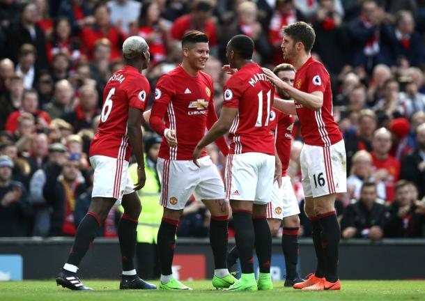 L'esultanza dei red devils al goal di Rojo | Foto: @squawka