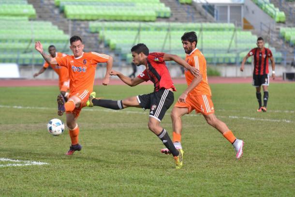 Jesús Hernández en la oportunidad más clara que tuvo / FOTO: Deportivo Lara