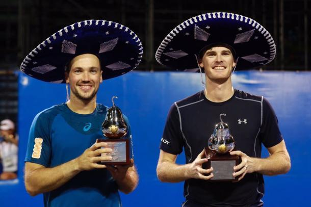 Jamie Murray and Bruno Soares won their first 2017 title. (Photo: Abierto Mexicano de Tenis)