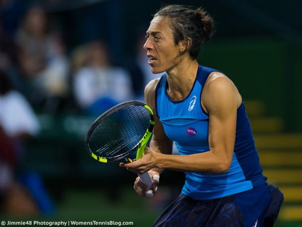 Francesca Schiavone played a great match overall | Photo: Jimmie48 Tennis Photography
