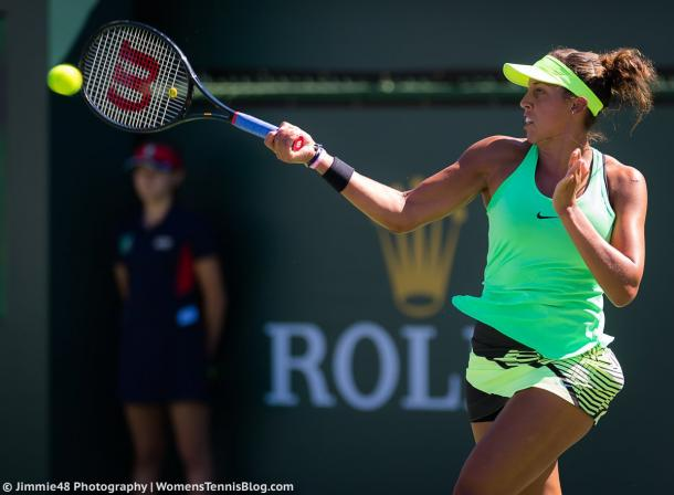 Madison Keys' forehand was working really well today | Photo: Jimmie48 Tennis Photography