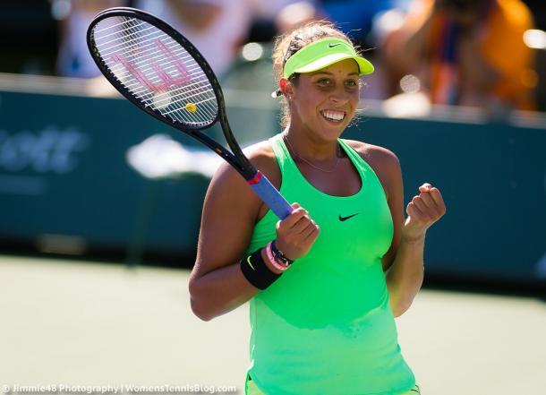 Madison Keys celebrates her win | Photo: Jimmie48 Tennis Photography