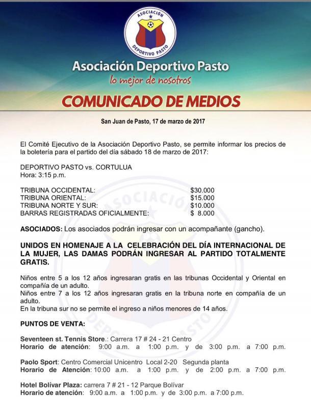 Twitter Deportivo Pasto