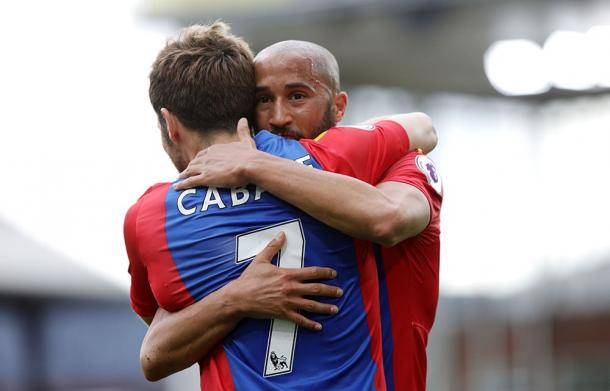 Cabaye, autore dell'assist. Fonte: https://twitter.com/cpfc