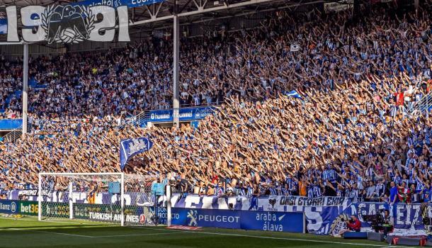 Las gradas estarán repletas, al alcanzar récord de abonados, superando los 17.000. Fuente: deportivoalavés.com