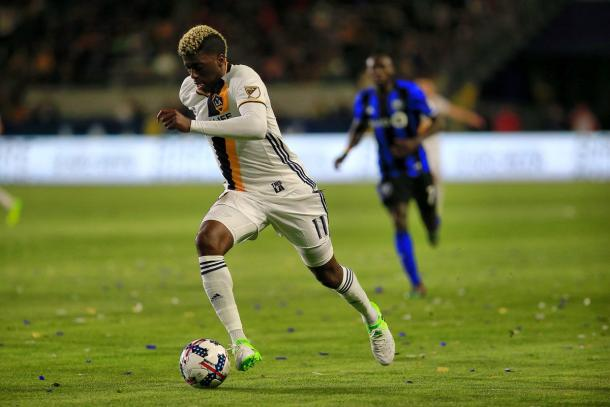 Although his night ended without a goal, Zardes was key to the second Galaxy goal | Source: lagalaxy.com