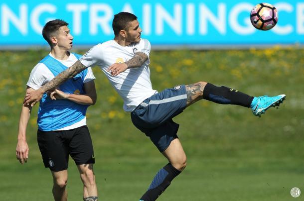 Icardi in azione con la Beretti - Foto: Inter.it