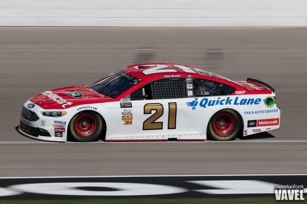 Ryan Blaney drives during the Las Vegas race.
