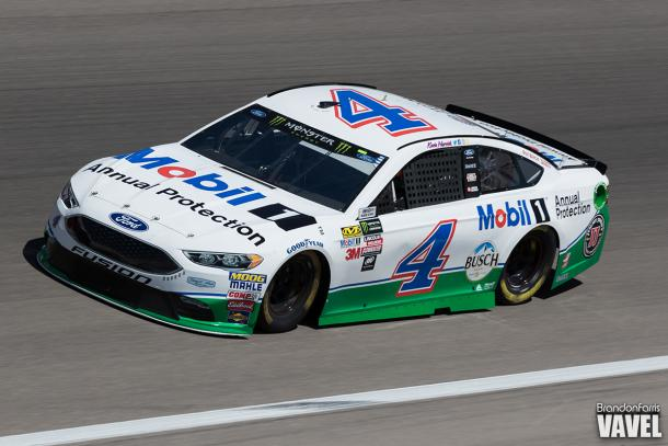 Kevin Harvick qualified in 23rd for Sunday's race.