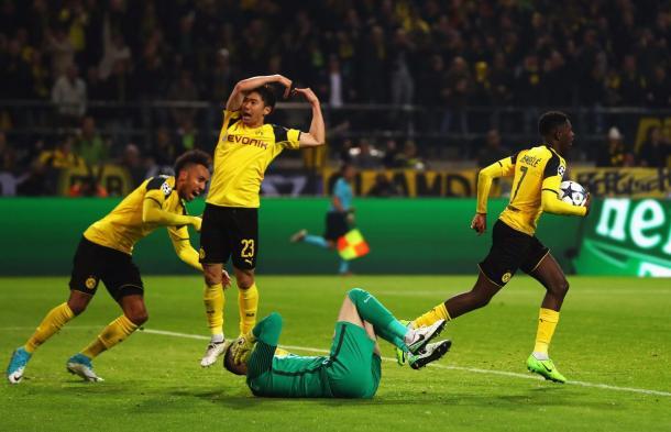 La speranza BVB con il goal di Dembélé | Foto: @championsleague