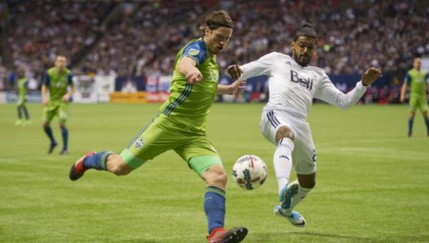 Gustav Svensson did not have a good night for the Sounders | Source: Joe Nicholson-USA TODAY Sports