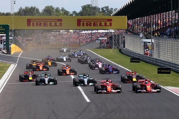 Imagen de la salida del GP de Hungría. Foto: Zimbio