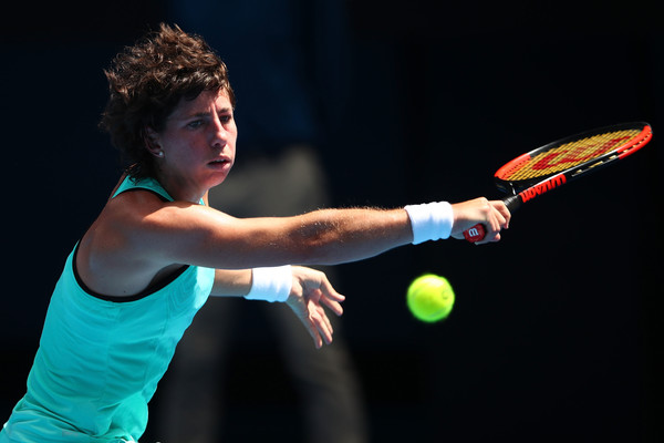 Photo: Clive Brunskill/Getty Images AsiaPac- Carla Suarez Navarro's backhand kept her in the match.