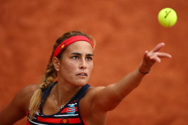 Monica Puig in action at the French Open earlier this year (Getty/Clive Brunskill)