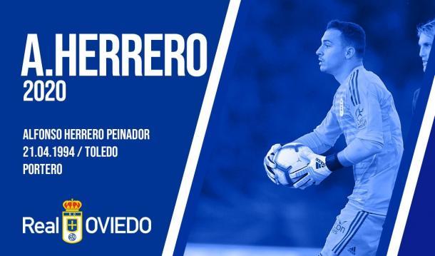 Alfonso Herrero llevará el escudo del Oviedo hasta 2020 | Imagen: Real Oviedo