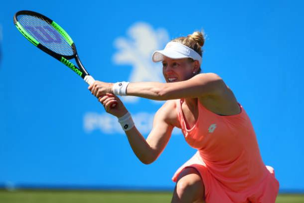 Alison Riske was not able to trouble Karolina Pliskova enough to cause the upset (Getty/Charlie Crowhurst)