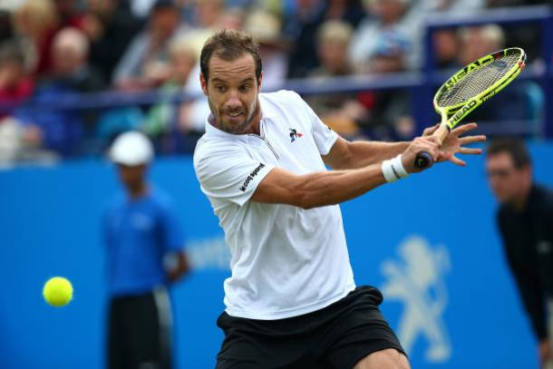 Gasquet in action at the Aegon International in Eastbourne (Getty/Charlie Crowhurst)