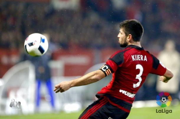 Gorka Kiijera, jugador del Mirandés. | Foto: LFP