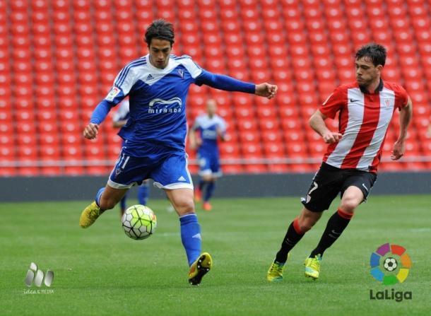 Provencio insiste en que el objetivo del Mirandés es disputar el playoff y ascender a la Liga BBVA. (Foto: LFP)