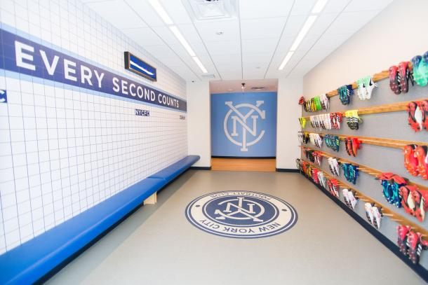 Boot room. | Photo: New York City FC