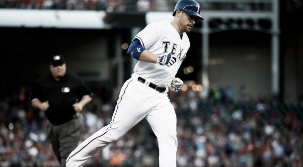 Chris Gimenez in action with the Texas Rangers | Tony Gutierrez - AP