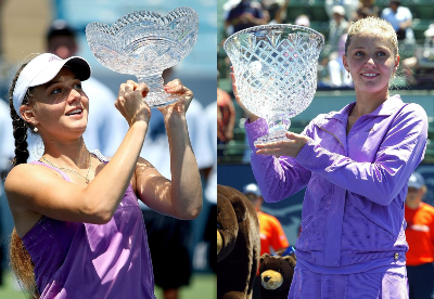 Chakvetadze had a solid American swing in summer of 2007, enacting a 12-match winning streak which saw her win titles in Cincinnati (left) and Stanford (right). Photos: Cincinnati (Matthew Stockman) and Stanfod (Sara Wolfram)
