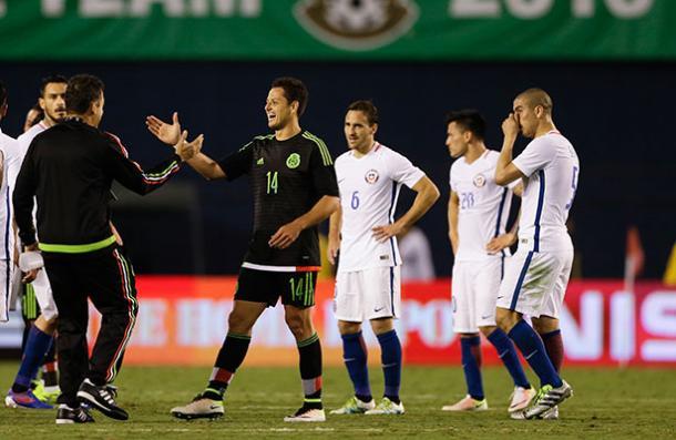 En su último duelo, México ganó con gol de 'Chicharito' | (Foto: ESTO)