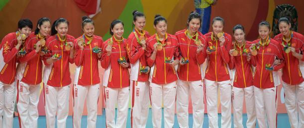 Esta selección china forma ya parte de la historia del voleibol Olímpico. | Foto: FIVB