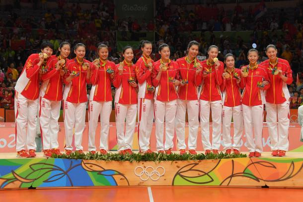China, campeona Olímpica de voleibol femenino en Río 2016. | Foto: FIVB