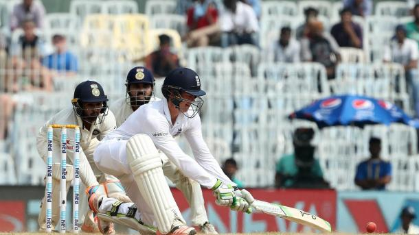 Jennings played many shots during his innings of 54 | Photo: ECB