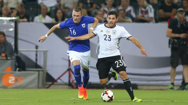 Kevin Volland played the full 90 minutes against Finland. | Photo: Bayer Leverkusen