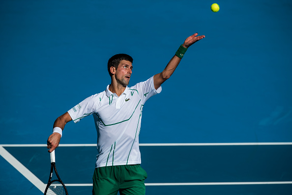 Djokovic in action during his third round match (Photo: Chaz Neill)