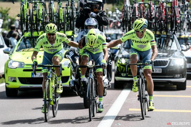 Contador, totalmente magullado a las primeras de cambio | Foto: Cyclingtips