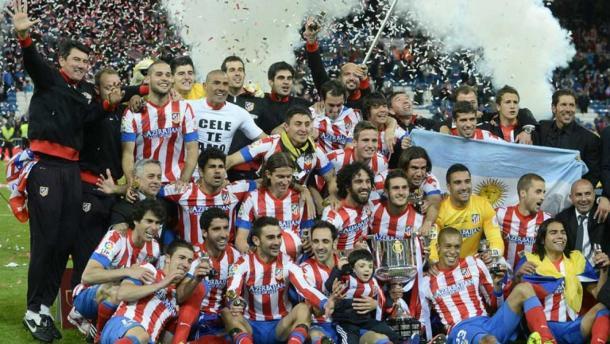 El Atleti celebra la Copa del Rey ganada en el año 2013 | Foto: Atlético de Madrid