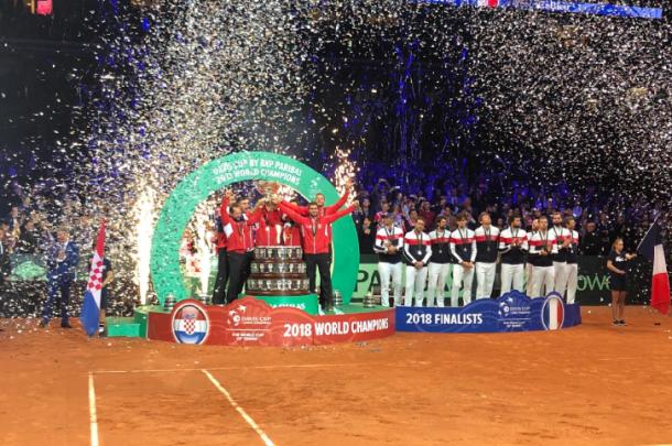 Croacia, último campeón en 2018 del antiguo formato de Grupo Mundial. Imagen: daviscup.com.