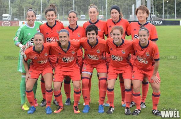Alineación de la Real Sociedad frente al Zarautz. Foto: Giovanni Batista (VAVEL)