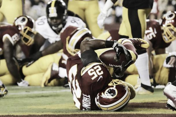 Chris Thompson got the only touchdown for the Redskins on the night | Source: csnmidatlantic.com