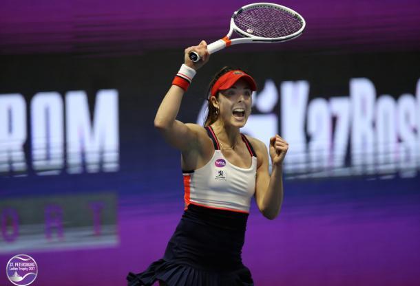 Alize Cornet had a great start to the match | Photo: WTA St. Petersburg Ladies Trophy (FormulaTX)