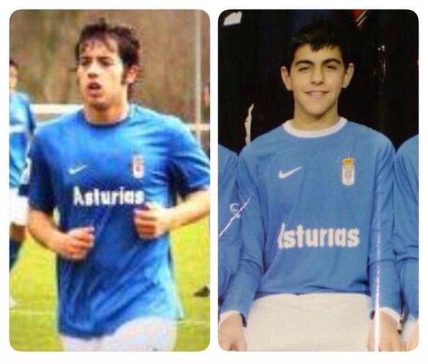 Jony y Carlos Castro, en su etapa como jugadores del Real Oviedo | Foto: Matías García